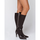 DELICIOUS Crocodile Knee High Black Womens Boots