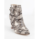 DELICIOUS Platform Buckle Snake Womens Booties