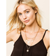 WEST OF MELROSE Layered Coin Necklace