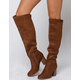 SODA Chestnut Over The Knee Womens Boots