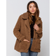 SUNSET LANE Cozy Brown Womens Jacket
