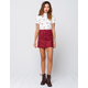SKY AND SPARROW Button Front Womens Mini Skirt