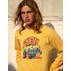 BRIXTON x Chevy 55 Heavy Mustard Mens T-Shirt