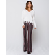 SKY AND SPARROW Linear Womens Flare Pants