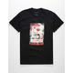 LA FAMILIA Flower Bed Black Mens T-Shirt