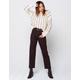 AMUSE SOCIETY Selena Black Womens Ripped Crop Jeans