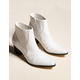 COCONUTS Devon White Womens Booties