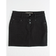 VANILLA STAR Exposed Button Black Girls Denim Skirt