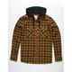 ELEMENT Alden Brown Mens Hooded Flannel Shirt
