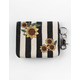 VIOLET RAY Sunflower Black and White Keychain Wallet