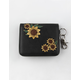VIOLET RAY Sunflower Black Keychain Wallet