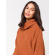 SKY AND SPARROW Fuzzy Cowl Womens Bell Sleeve Sweater