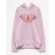 WHITE FAWN Butterfly Lavender Girls Hoodie