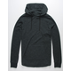 RSQ Crossover Black Mens Hooded Thermal