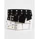 FULL TILT Web Grommet Black & White Belt
