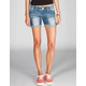 ALMOST FAMOUS Mid Length Womens Denim Shorts
