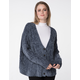 RSQ V-Neck Chenille Charcoal Womens Cardigan