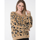 RSQ Animal Print Womens Sweater