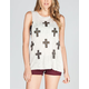 FULL TILT Multi Stud Cross Womens Hachi Tank