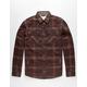 JETTY Sherpa Mens Flannel Shirt Jacket