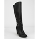 DELICIOUS Faux Leather Womens Knee High Boots