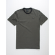 HUF Davis Stripe Black Mens T-Shirt