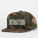 MOTIVATION Block Text Mens Snapback Hat