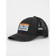 QUICKSILVER Clean Lines Black Mens Trucker Hat