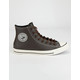 CONVERSE Tumbled Leather Chuck Taylor All Star High Top Shoes