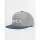 RVCA Twill Grey Blue Boys Snapback Hat