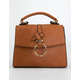 VIOLET RAY Structured Cognac Crossbody Bag