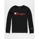 CHAMPION Heritage Script Black Boys T-Shirt