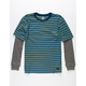 BILLABONG 2 Fer Die Cut Stripe Boys Thermal T-Shirt