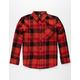 VOLCOM Caden Red Boys Flannel Shirt
