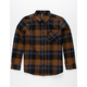 VOLCOM Caden Brown Boys Flannel Shirt