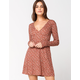 CHLOE & KATIE Ditsy Thermal Fit And Flare Dress