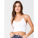 FULL TILT Lace Back Strappy Seamless White Womens Cami