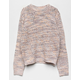 WOVEN HEART Marled Knit Cream Girls Sweater