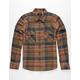 BRIXTON Bowery Sage Mens Flannel Shirt