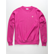 CHAMPION Reverse Weave Mens Fuschia Crew Sweatshirt