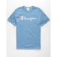 CHAMPION Script Mens Medium Blue T-Shirt