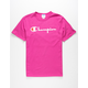 CHAMPION Script Mens Magenta T-Shirt