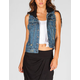 OTHERS FOLLOW Carl Womens Hooded Denim Vest