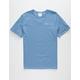CHAMPION Embroidered Script Logo Mens Blue T-Shirt