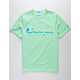 CHAMPION Drop Shadow Embroidered Mens Light Green T-Shirt