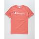 CHAMPION Script Mens Salmon T-Shirt