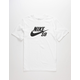 NIKE SB Logo Dri-FIT Mens White T-Shirt