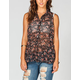 FULL TILT Floral Womens Hi Low Peplum Shirt