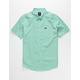 RVCA That'll Do Stretch Mens Mint Button Up Shirt