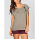 FULL TILT Ethnic Inset Womens Top